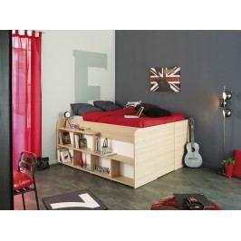 Funktionsbett 140 X 200 Cm Weiss/ Baltimore Eiche Parisot Space Up Holz Modern