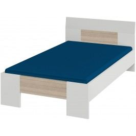 Bett 100 X 200 Cm Weiss/ Dakota Eiche Röhr Vegas Plus Holz Modern