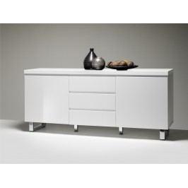 Sideboard In Weiss Hochglanz Lackiert Mca-Furniture Yendys Weiß Mdf Modern
