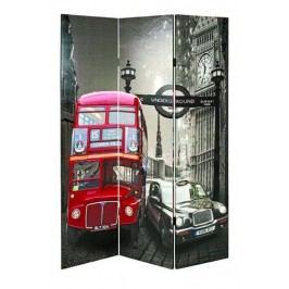 Paravent Holzrahmengestell Mit Fotogewebe Bunt Bezogen Haku Routemaster Modern