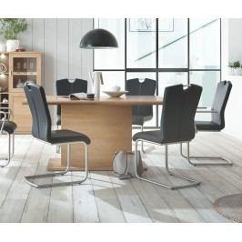 Esstisch 180x100 Cm Eiche Bianco Teilmassiv Geölt Ausziehbar Auf 280 Cm Ideal Möbel Clarissa Massivholz / Holzwerkstoffe Modern