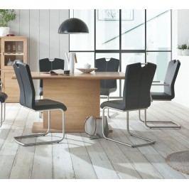 Esstisch 160x100 Cm Eiche Bianco Teilmassiv Geölt Ideal Möbel Clarissa Massivholz / Holzwerkstoffe Modern
