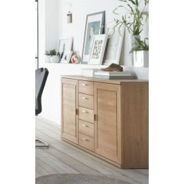 Sideboard Eiche Bianco Teilmassiv Geölt Ideal Möbel Clarissa Massivholz / Holzwerkstoffe Modern