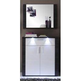 Garderobe Esche Grau/ Weiss Mit Beleuchtung Trendteam Xpress Modern