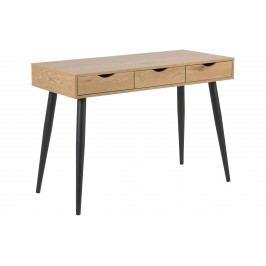 Schreibtisch Wildeiche/ Schwarz Actona Nutep Braun Holzwerkstoffe Klassisch