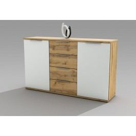Kommode Weiss/ Wildeiche Polpower Capri Holz Modern