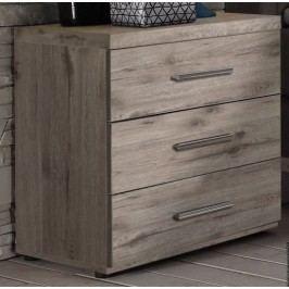 Nachtkommode 2er Set Sandeiche Polpower Orlando Holz Modern