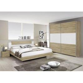 Schlafzimmer-Set Mit Bett 160 X 200 Cm Eiche Sonoma Rauch Packs Borba Modern