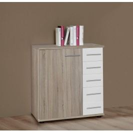 Kommode Eiche Sägerau/ Alpinweiss Wimex Franziska Holz Modern