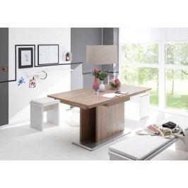 Esstisch 160 X 90 Cm Ausziehbar Stirling Oak/ Edelstahloptik Gerd Mäusbacher Komfort-Tisch 3 Braun Holz Modern
