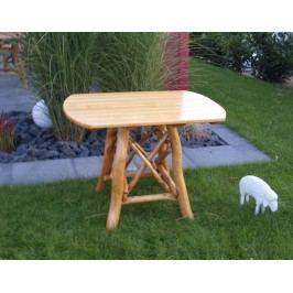 Gartentisch 70 X 100 Cm Eiche/ Buche Hell Frg - Handels Gmbh Rossbachtal Holz Neutral