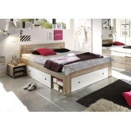 Bett 140 X 200 Cm Eiche San Remo Hell/ Weiss Polpower Nafets Holz Modern