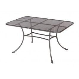 Gartentisch 145 X 90 Cm Grau Frg - Handels Gmbh Rivo Metall Modern