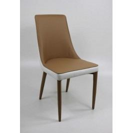 2er Set Stuhl Retro Stil Braun/Weiss Top Form Mila Polyurethan