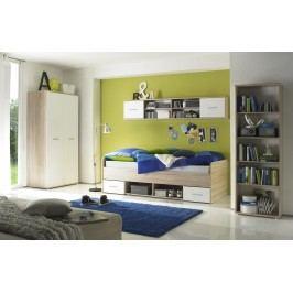 Jugendzimmer Eiche Sonoma/ Weiss Polpower Nanu Modern