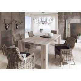 Esstisch 220 X 110 Cm Balkeneiche Massiv White Wash Sit-Möbel Goliath Holz Modern