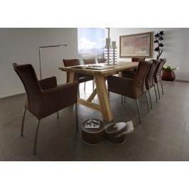 Esstisch 200 X 110 Cm In Balkeineiche Massiv Geölt Sit-Möbel Wiking Modern