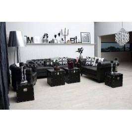 Couchgarnitur Sessel 2-Sitzer Und 3-Sitzer Kunstleder Schwarz Actona Nwoteilrahc Modern