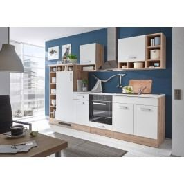 Küchenzeile Küchenblock Weiss/ Wildeiche Bega Madeira Weiß Holz Modern