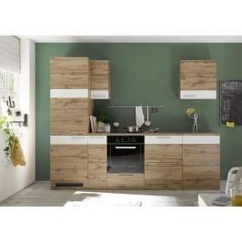 Küchenzeile Küchenblock Wildeiche/ Weiss Matt Bega Fondue Holz Modern