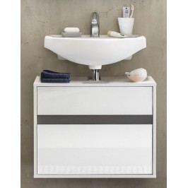 Waschbeckenunterschrank In Weiss Mit Grauer Absetzung Trendteam Sol Weiß Holz Modern