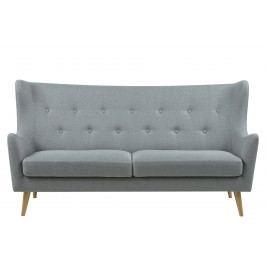 Sofa 3-Sitzer Stoff Corsica Hell Grau Actona Ammak Holz Modern