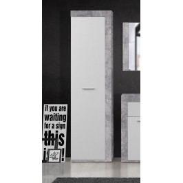 Kleiderschrank Betonoptik Lichtgrau/ Weiss Forte MÖbel Zumba Beton / Weiß Holz Modern