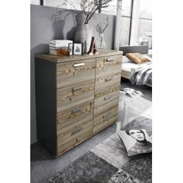 Kommode Lärche Natur/ Graphit Rauch Select Montreal Grau Modern