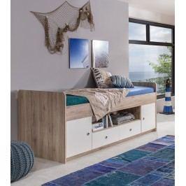 Bett 90 X 200 Cm Eiche Sanremo/ Alpinweiss Wimex Lenny Holz Modern