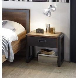 Nachtkommode Stirling Oak/ Matera Imv Detroit Eiche Holz Modern