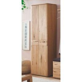 Garderobenschrank Balkeneiche Bianco Teilmassiv Geölt Mit Zwei Türen Mca-Furniture Olin Holz Modern