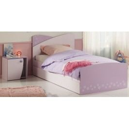 Bett 90 X 200 Mit Bettschubkasten Und Nako Rosa/ Lila Parisot Christal 5 Holz Modern