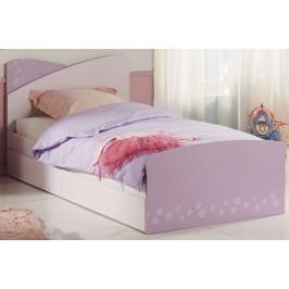 Bett 90 X 200 Cm Mit Bettschubkasten Rosa/ Lila Parisot Christal 6 Holz Modern