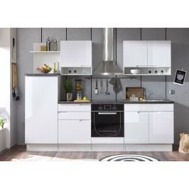 Küchenblock Küchenzeile Weiss Hochglanz/ Stone Dark Mit Elektrogeräten Bega Spice Weiß Holz Modern