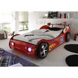 Autobett 90 X 200 Cm Rot Glänzend Lackiert Polpower Energy Mdf Modern