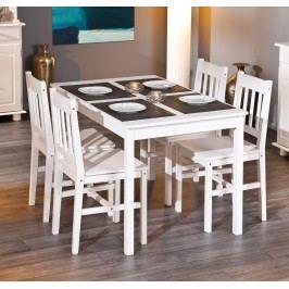 Esstisch Mit Vier Stühlen Kiefer Massiv Weiss Lackiert Inter Link Pale Palmiro Weiß Holz Landhaus