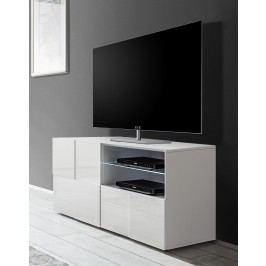 Tv-Unterschrank In Weiss Hochglanz Lackiert 3d Optik Classico Z-Dama Weiß Hochglanz Lackiert Holz Modern
