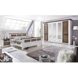 Schlafzimmer Mit Bett 180 X 200 Cm Pinie Weiss/ Terra Gewischt Teilmassiv Telmex Laguna Pinie Weiß Holz Landhaus