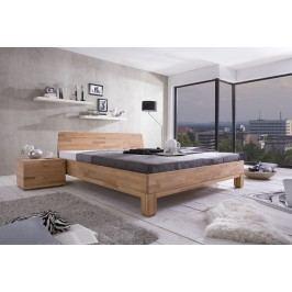 Bett 140 X 200 Cm Mit Nako Massiv Kernbuche Geölt Natur Vs-Furniture Rivo Holz Modern