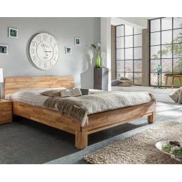 Bett 200 X 200 Cm Massiv Wildeiche Geölt Natur Vs-Furniture Rivo Holz Modern