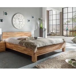 Bett 140 X 200 Cm Massiv Wildeiche Geölt Natur Vs-Furniture Rivo Holz Modern