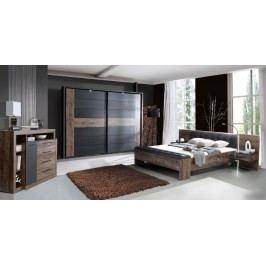 Schlafzimmer-Set Mit Bett 180 X 200 Cm Schwarzeiche Forte MÖbel Bellevue Holz Modern