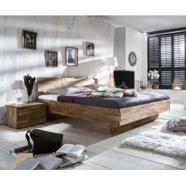 Bett 180 X 200 Cm Mit Nako Set Massiv Wildeiche Geölt Natur Vs-Furniture Cielo Holz Modern