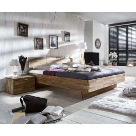 Bett 160 X 200 Cm Mit Nako Set Massiv Wildeiche Geölt Natur Vs-Furniture Cielo Holz Modern