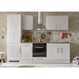 Küchenzeile Küchenblock Sibiu Lärche Weiss/ Wildeiche Mit Elektrogeräten Bega Landhaus 2 Weiß Holz Modern