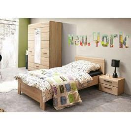 Jugendzimmerkombination Mit Bett 90 X 200 Cm Sonoma Eiche Forte MÖbel Combino Holz Klassisch