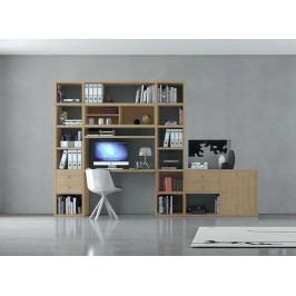 Regal Mit Schreibtischplatte Eiche Natur Fif Möbel Toro Modern