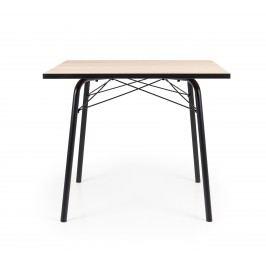 Tisch Eiche/ Schwarz 90*90 Tenzo Wolf Holz Modern