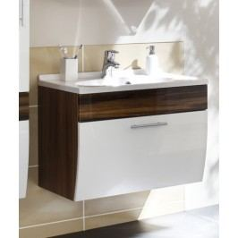 Waschplatz Walnuss/ Weiss Posseik Anolas Weiß Mdf Modern
