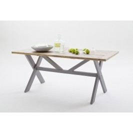 Esstisch 220 X 100 Cm Recycle Kiefer Antik Grau/ Vintage Braun Mca-Furniture Noryb Holz Landhaus